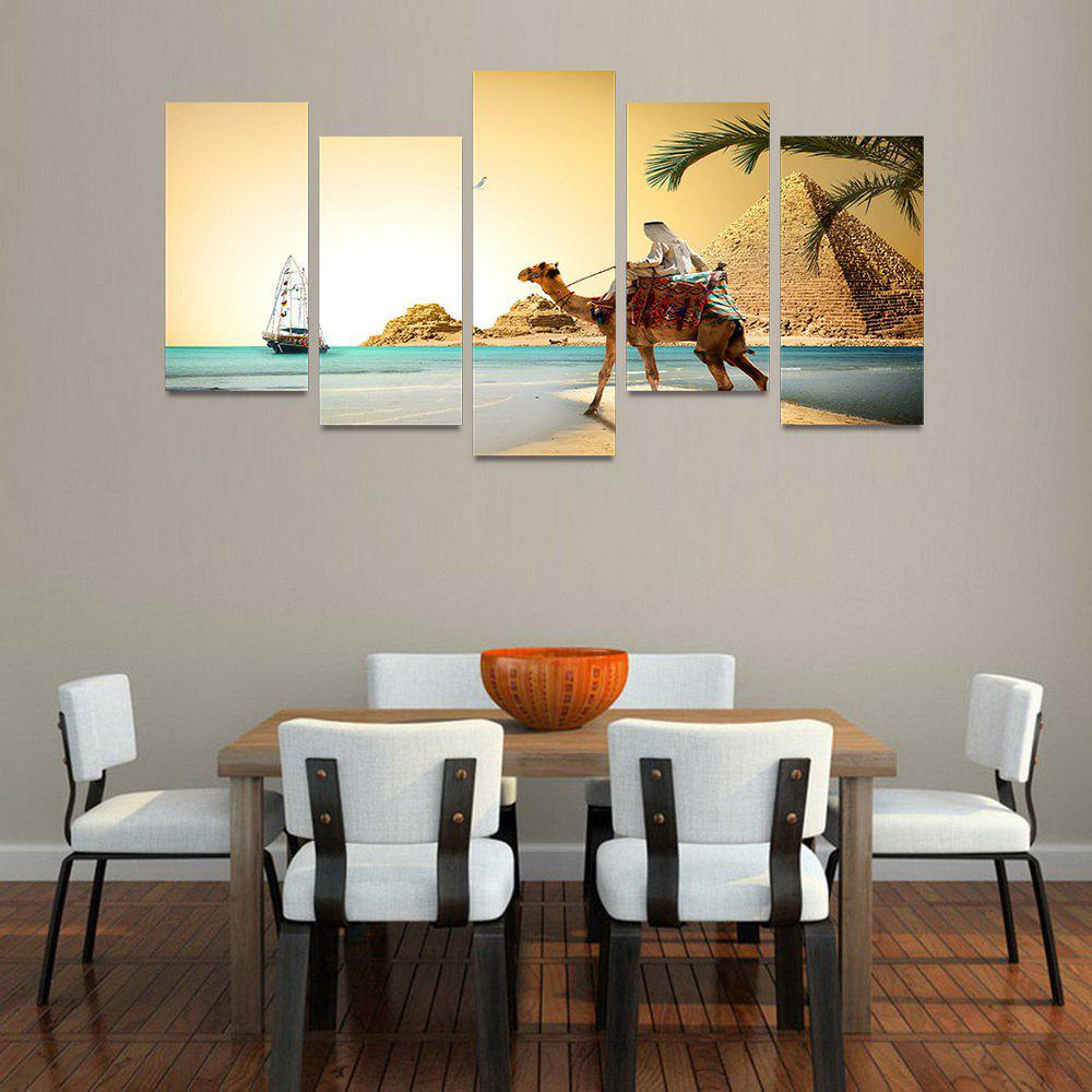 MailingArt FIV210  5 Panels Landscape Wall Art Painting Home Decor Canvas Print - COLORMIX 30X60CM 4PCS + 30X80CM 1PC   12X24INCH 4PCS + 12X3