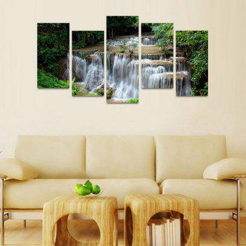 MailingArt FIV211  5 Panels Landscape Wall Art Painting Home Decor Canvas Print - COLORMIX 30X60CM 4PCS + 30X80CM 1PC   12X24INCH 4PCS + 12X3