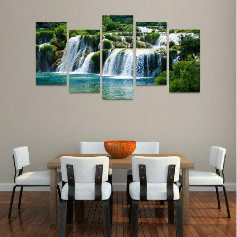 MailingArt FIV217  5 Panels Landscape Wall Art Painting Home Decor Canvas Print - multicolor 30X60CM 4PCS + 30X80CM 1PC   12X24INCH 4PCS + 12X3