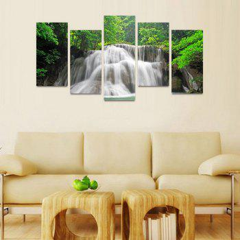 MailingArt FIV220  5 Panels Landscape Wall Art Painting Home Decor Canvas Print - COLORMIX 30X60CM 4PCS + 30X80CM 1PC   12X24INCH 4PCS + 12X3