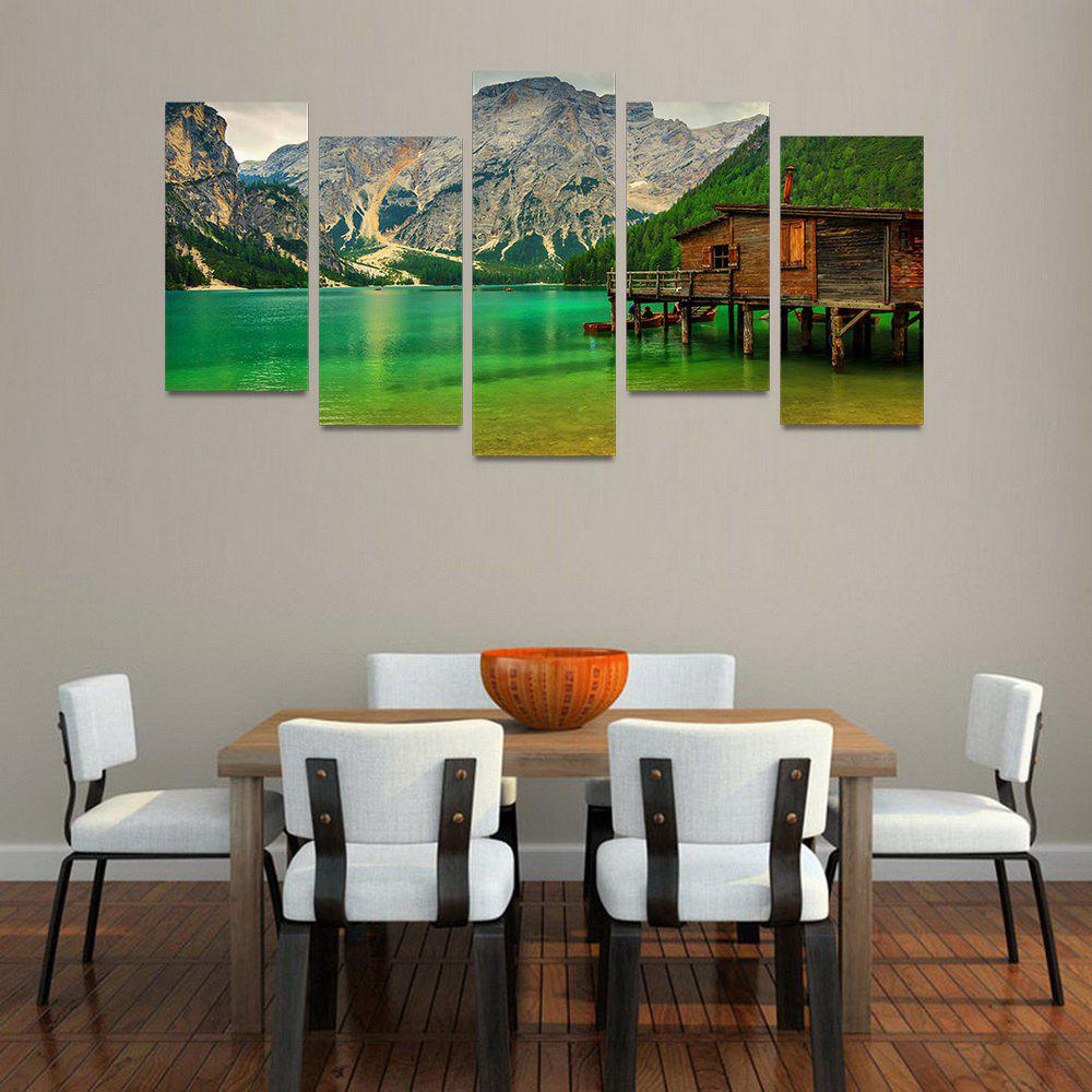 MailingArt FIV221  5 Panels Landscape Wall Art Painting Home Decor Canvas Print - COLORMIX 30X60CM 4PCS + 30X80CM 1PC   12X24INCH 4PCS + 12X3