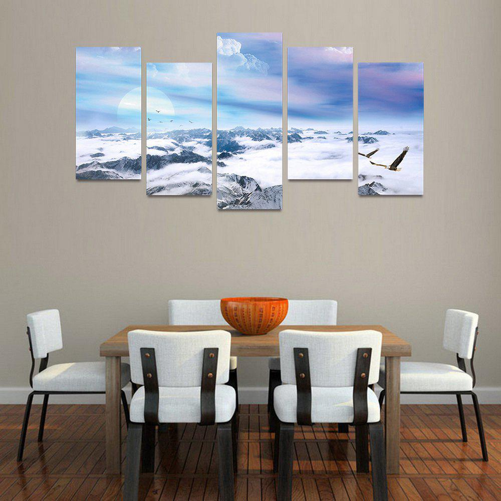 MailingArt FIV224  5 Panels Landscape Wall Art Painting Home Decor Canvas Print - COLORMIX 30X60CM 4PCS + 30X80CM 1PC   12X24INCH 4PCS + 12X3