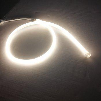 1PC 1M 9W 120LEDS Waterproof Circular Led Neon Tube Led Sign Board Tube Flexible Strip With Power Cord - WHITE LIGHT EU PLUG