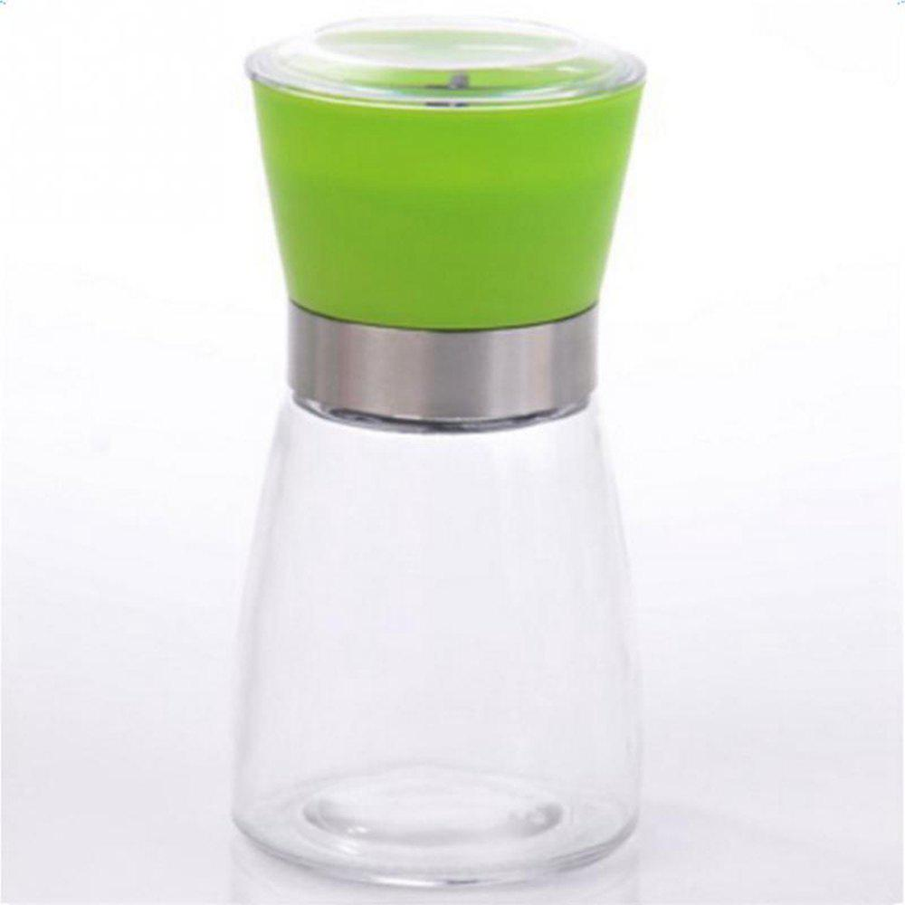 Pepper Grinder Mill Glass Salt Herb Spice Hand Manual Cooking BBQ Seasoning Kitchen Tools - GREEN