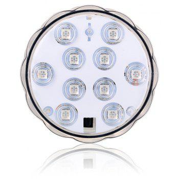 16 Color Multi-function Underwater Infrared Remote Control LED Lamp - WHITE