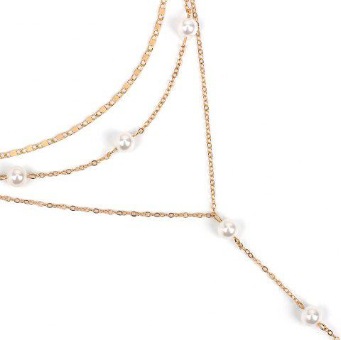 Creative Multi-layer Female Wild Personality Fringed Long Necklace - GOLDEN