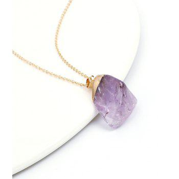 New Natural Irregular Jewelry Original Amethyst Pendant Necklace - AMETHYST