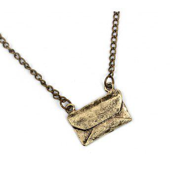 Multi-layer Sweater Chain Carrier Pigeon Bag Pendant Necklace - COPPER COLOR