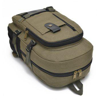 New Men Outdoor Trendy Canvas Travel Backpack - ARMYGREEN