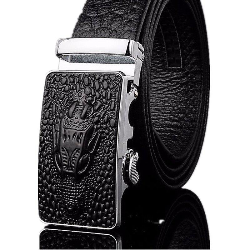 New Men's Automatic Belt Trend Casual - BLACK