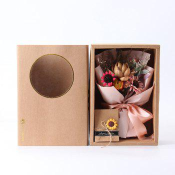 Vintage Bouquet Gift Box Gift Home Soft Dried Flowers - PINK