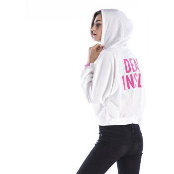 New Women Long Sleeve Hoodie Hooded Jumper Pullover Tops - WHITE L