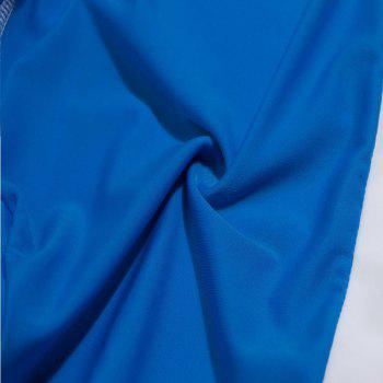 Fashion Men's Trunk Rapid Splice Square Solid Jammer Shorts Jammers Swim Suit - BLUE/YELLOW/RED S