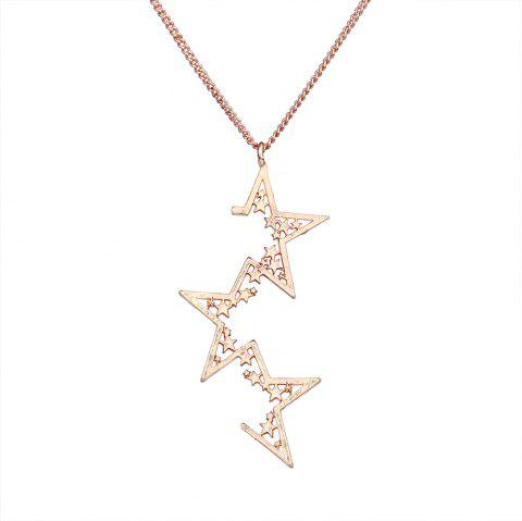 Irregular Pentagram Design Necklace - GOLDEN