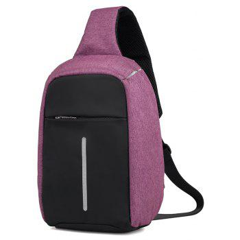 Unisex Fashion Trend Messenger Bag - PURPLE