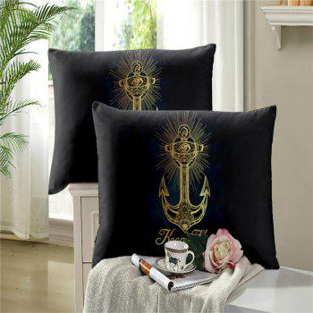 Sea Island Sacred Anchor 3D Series Bedding Three and Four Pieces Set AS27 - BLACK GOLD EURO KING
