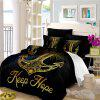 Sea Island Sacred Anchor 3D Series Bedding Three and Four Pieces Set AS27 - BLACK GOLD SINGLE