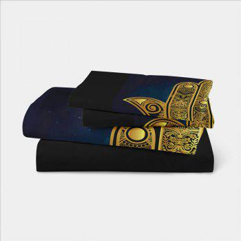Faith Hand 3D Series Bedding Three and Four Pieces Set AS28 - BLACK GOLD TWIN