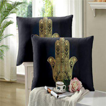 Faith Hand 3D Series Bedding Three and Four Pieces Set AS28 - BLACK GOLD DOUBLE