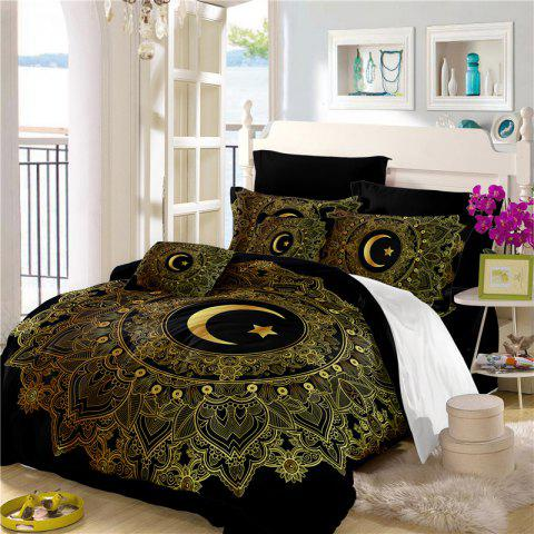 Moon Stars Personality 3D Bedding Series Three and Four Pieces AS29 - BLACK KING