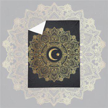 Moon Stars Personality 3D Bedding Series Three and Four Pieces AS29 - BLACK GOLD SINGLE