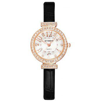 SYNOKE 5206 Female Quartz Watch - BLACK