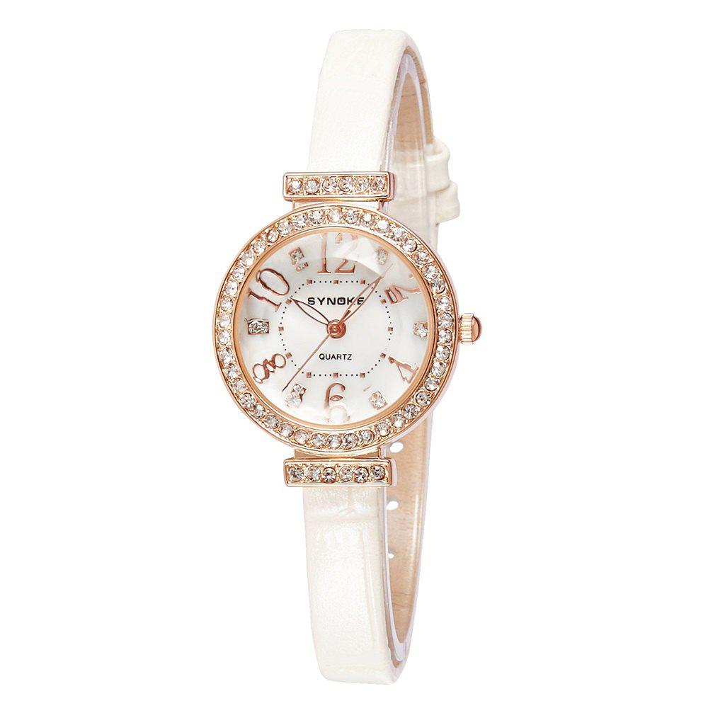 SYNOKE 5206 Female Quartz Watch - WHITE