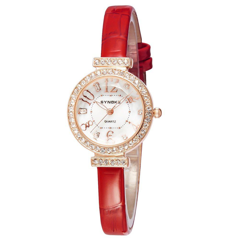 SYNOKE 5206 Female Quartz Watch - RED