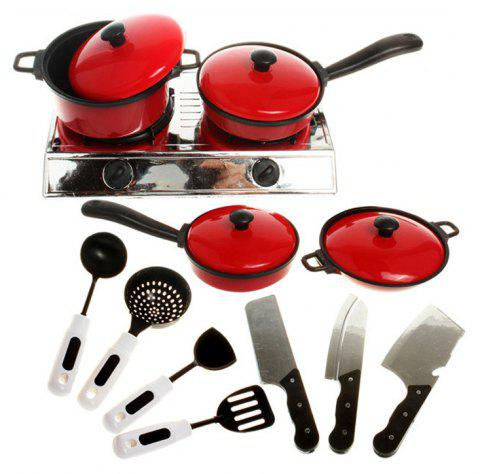 Cooking Pretend Play Kitchen Toy Set for Kids 13PCS - COLORMIX