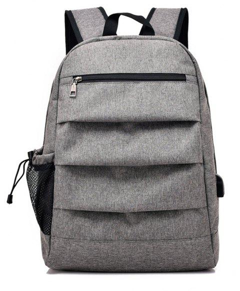 Mâle de charge Business Computer Voyage Junior High School Students Backpack - Gris