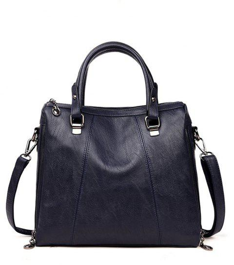 Female Fashion Wild Soft Leather Portable Shoulder Diagonal Bag - BLUE