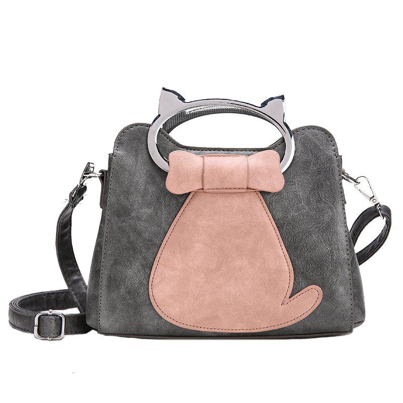 Portable Personalized Shoulder Messenger Bag - GRAY