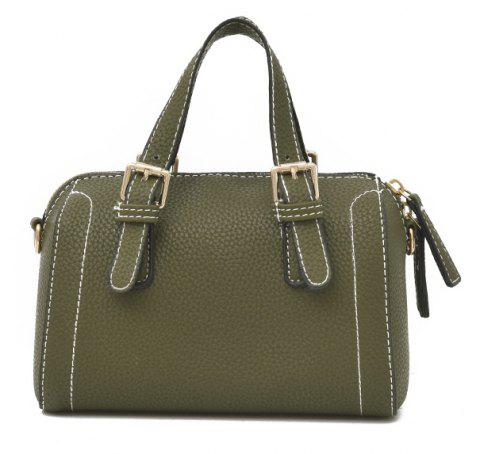 Stylish Pillow Portable Shoulder Messenger Bag - GREEN