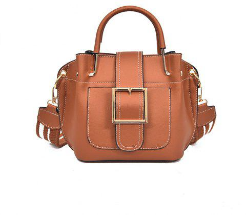 Fashion  Shoulder Strap Messenger Bag - BROWN