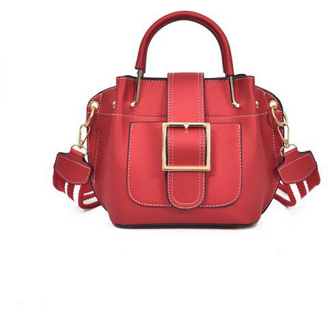 Fashion  Shoulder Strap Messenger Bag - RED