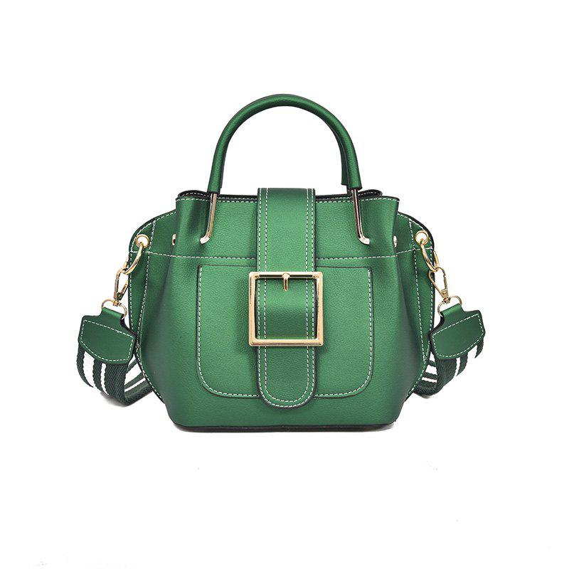 Fashion  Shoulder Strap Messenger Bag - GREEN