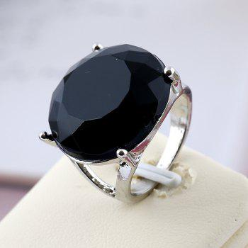 Fashionable Popular Resin Texture Character Ring - BLACK ONE-SIZE