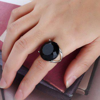 Fashionable Popular Resin Texture Character Ring - BLACK 7