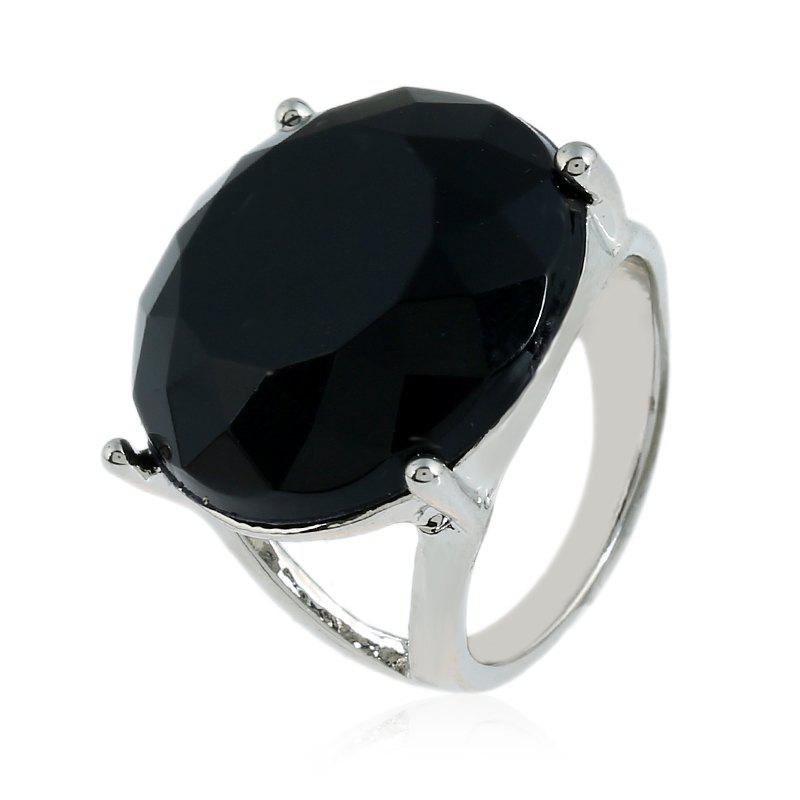 Fashionable Popular Resin Texture Character Ring - BLACK 9