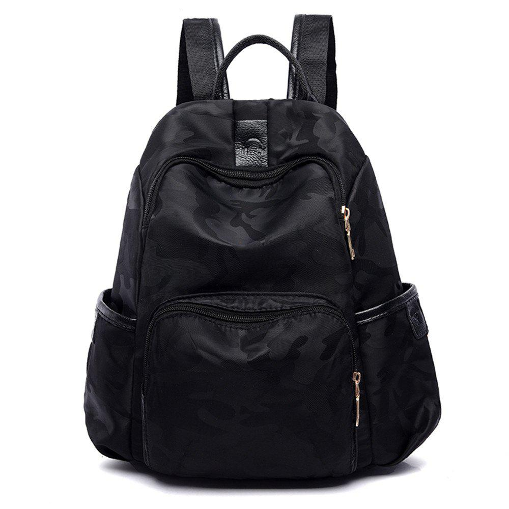 Backpack Women Canvas Wild Leisure Travel Oxford Cloth Travel Mummy - BLACK