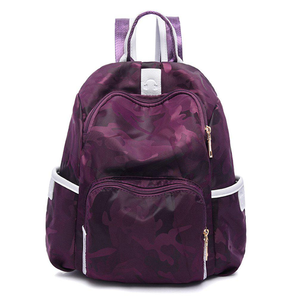 Backpack Women Canvas Wild Leisure Travel Oxford Cloth Travel Mummy - PURPLE