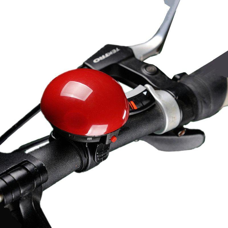 LEADBIKE Bicycle Electric Horn UFO Shape Super Loud Bike Alert Bell Handlebar Ring Horns Cycling Accessories - RED