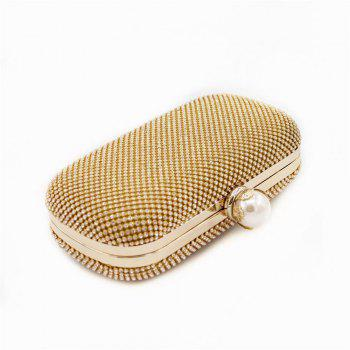 Rhinestones Women Evening Bags - GOLD