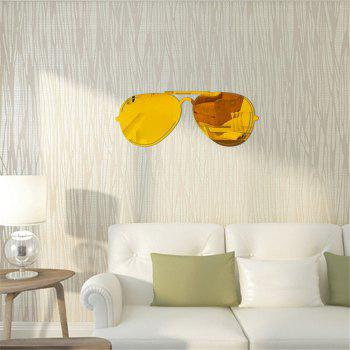 PS Mirror Stickers Minimalist Art Stickers Affixed Sunglasses Mirror Stereo Decoration Paste - GOLDEN 51CM X 20CM