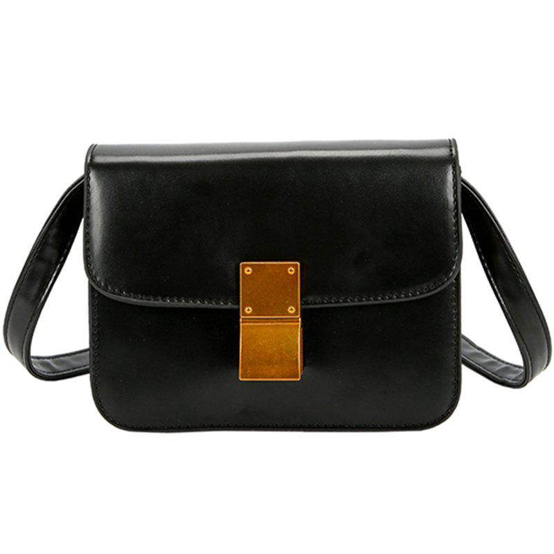 Fashion Wild Simple Ladies Chain Shoulder Messenger Bag - BLACK