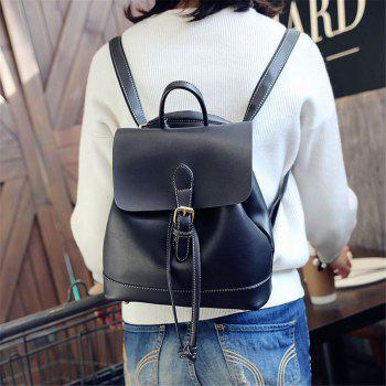 Small Fresh and Trendy Wild Trend Simple Cute Large-Capacity Backpack - BLACK