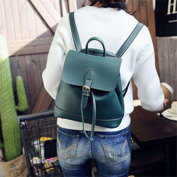 Small Fresh and Trendy Wild Trend Simple Cute Large-Capacity Backpack - GREEN