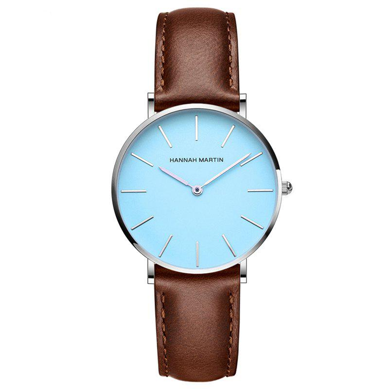 Hannah Martin CL04 Japanese Movement Ladies Casual Fashion Waterproof Thin Quartz Watch - BROWN