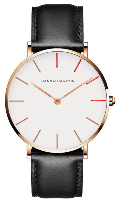 Hannah Martin Japanese Movement Waterproof Ultra-Thin Fashion Casual Quartz Watch - BLACK