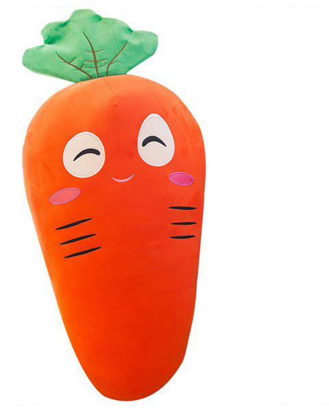 Girl Plush Doll Creative Cute Carrot  Birthday Gift Toy - ORANGE 65X20X20CM